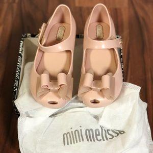 Mini Melissa little girl shoes size 10